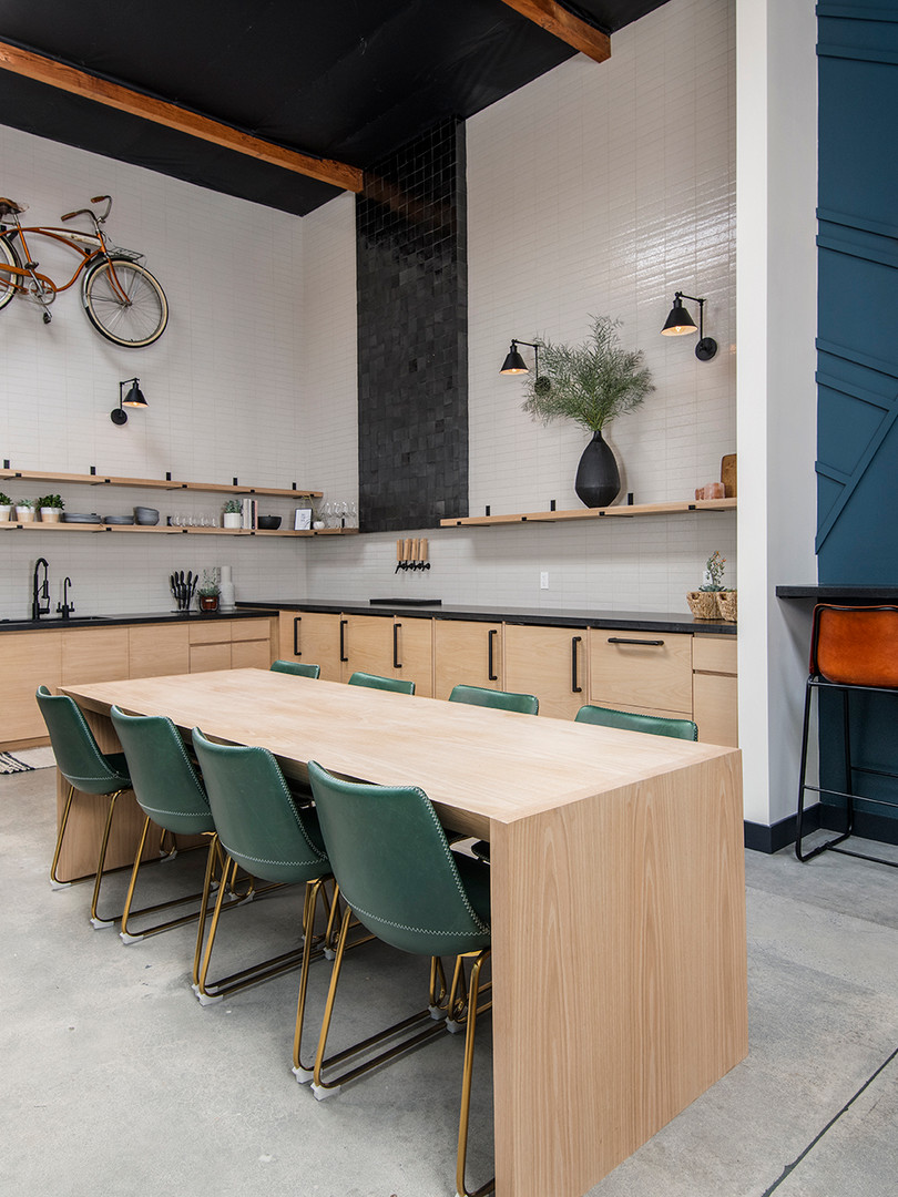 A beautiful space to socialize or grab some lunch