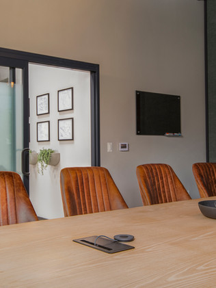 The conference room has all the tech you need for live meetings or video conferencing