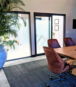 Conference room doors open up to create more space to gather.