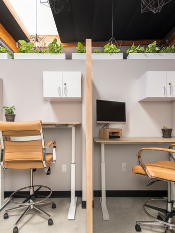 Each dedicated desk offers privacy and comfort