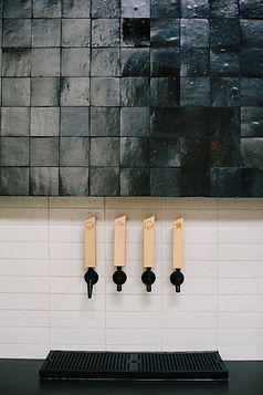 TrueWork tap wall with custom Cle Tile