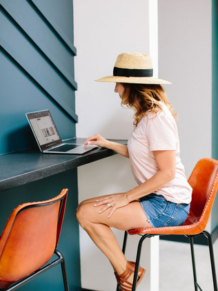 Enjoy quiet nooks to work or grab a healthy snack