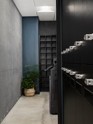 Private lockers and mail cubbies are included in all memberships