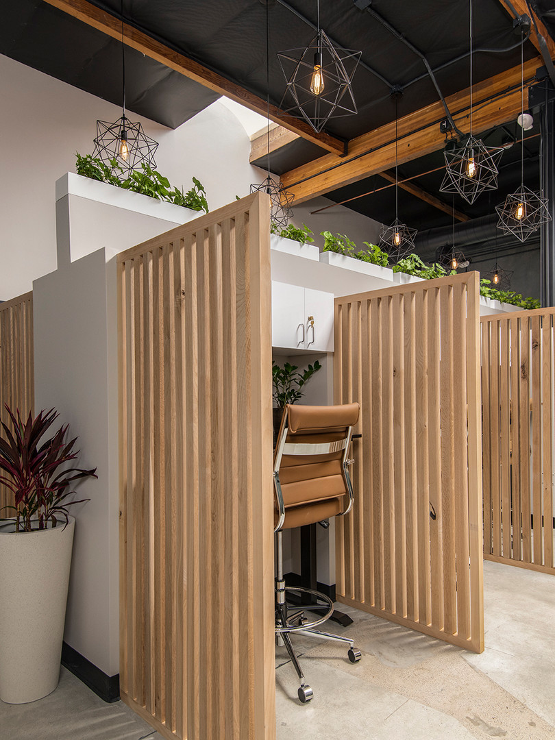 The Truework dedicated desk area is a peaceful, productive space mindfully crafted to give you the room you need to do your best work