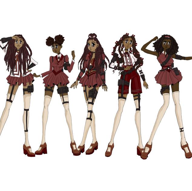 Barii Girls Line Up