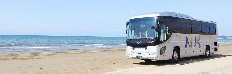 海岸のバス