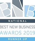 Best New Business Awards 2019 Runner Up.