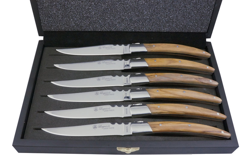Louis Thiers Artisan Steak Knives - Olive Wood