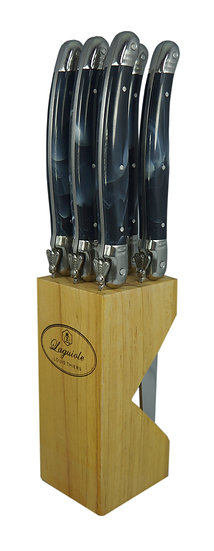 Louis Thiers Luxe Steak Knife Set - Black