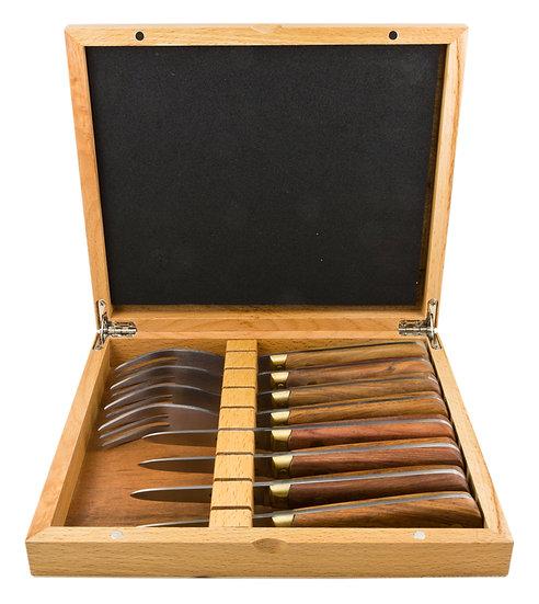 Louis Thiers Séquoia 8-Piece Oyster Set -Rose Wood