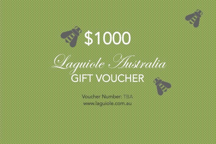 Laguiole Australia Gift Voucher $1000