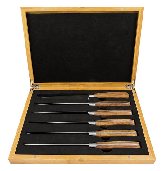 Louis Thiers Séquoia Steak Knife Set - Rose Wood