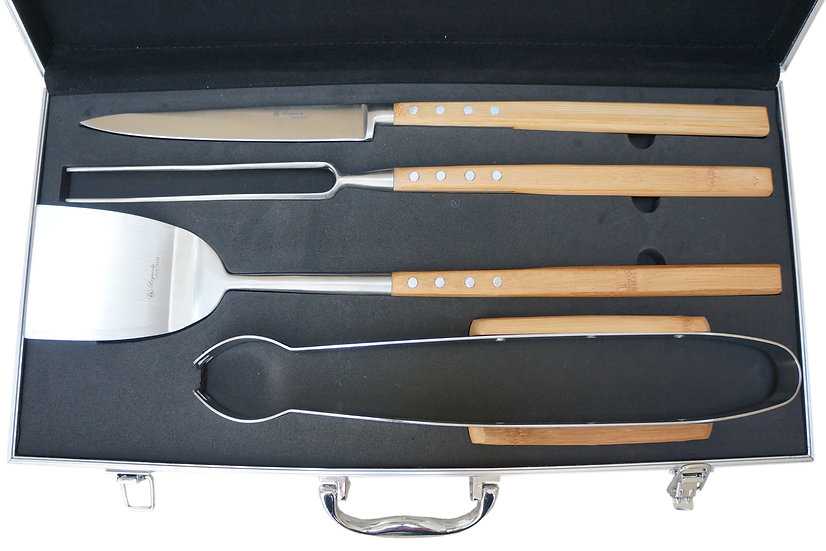 Louis Thiers Artisan Barbecure Set - Bamboo - WHOLESALE ONLY