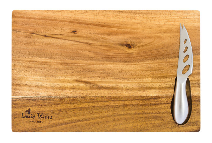 Louis Thiers Acacia Cheese Board with Knife