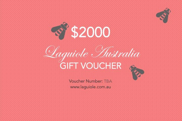 Laguiole Australia Gift Voucher $2000