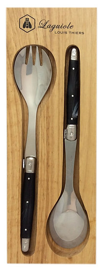 Louis Thiers Luxe Salad Servers - Marble Black