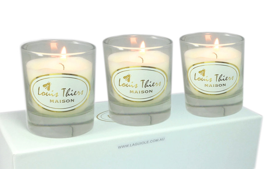 Maison Louis Thiers 3 Pce Aromatic Candle-Jasmin