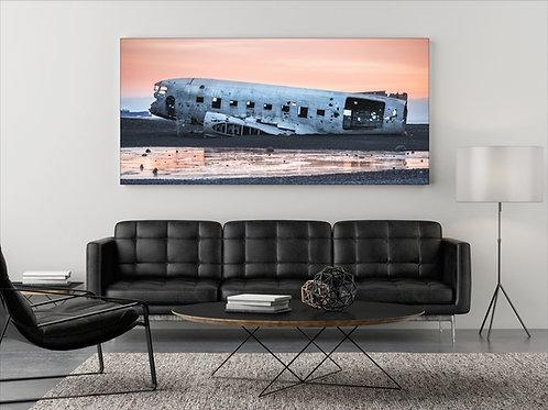 Flugzeugwrack Island ( Fotoposter )