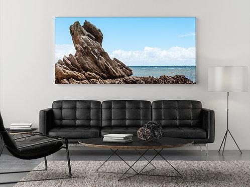 Fels am Meer ( Fotoposter ) Panorama