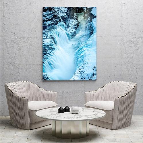Isländischer Wasserfall ( Fotoposter )