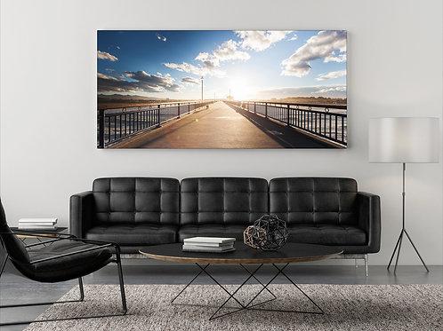 Spazieren am Pier ( Fotoposter ) Panorama