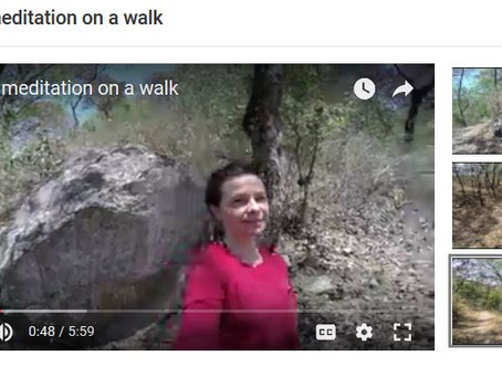 Taking meditation on a walk: New youtube video