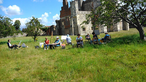 haven artists workshops en plein air titchfield abbey