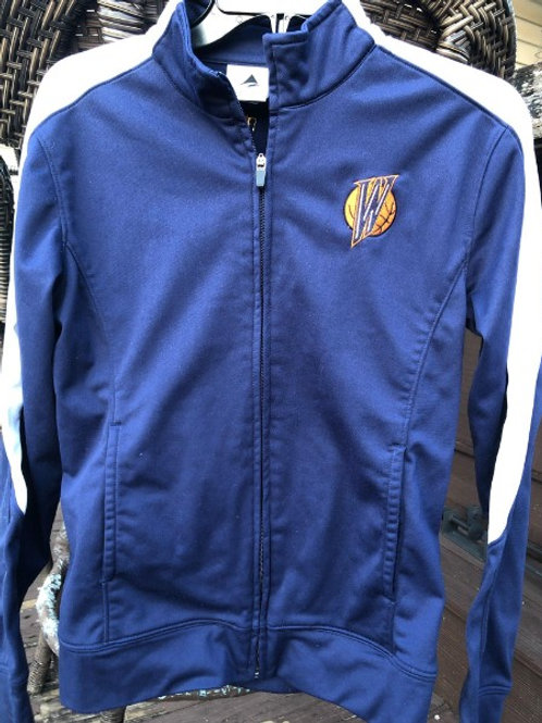 Warriors Warm-up Jacket (w/embroidered #)