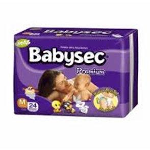 Pañales Babysec Premium Talla M (5-9,5 kg), 24 Un