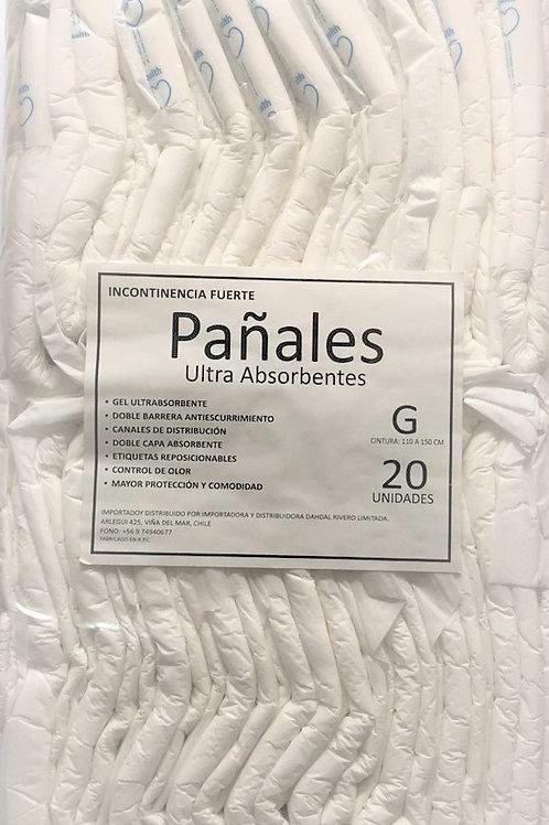 Pañales Dayri Ultra Absorbentes Talla G 20un