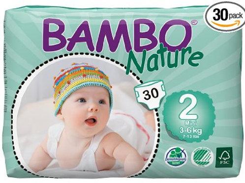 Pañales Bambo Nature 2 (3-6 Kg), 30 Un
