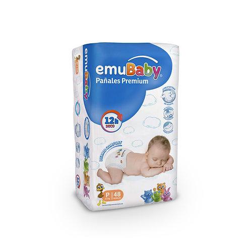 EmuBaby Pañales Premium P 48 un