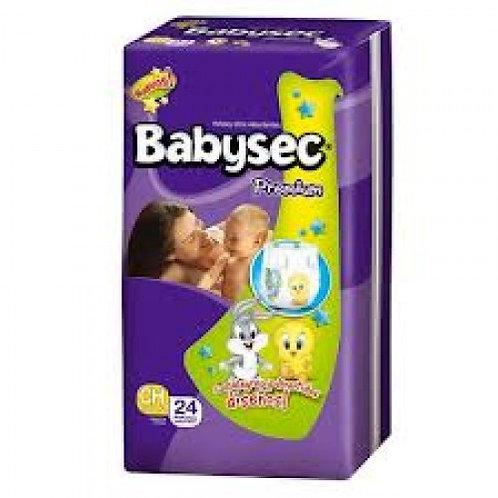 Pañales Babysec P (hasta 6 Kg), 24 Un