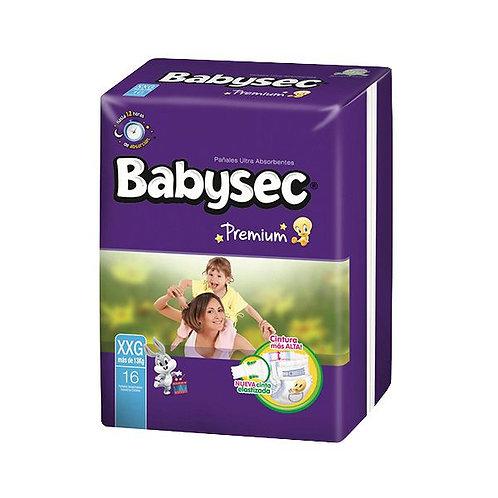Pañales Babysec Premium Talla XXG (más de 13 Kg), 16 Un