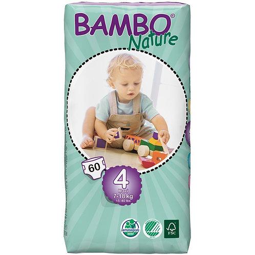 Pañales Bambo Nature 4 (7-18 Kgs), 60 Un