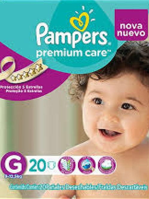 4 Paquetes Pampers Premium Care G 20 Un