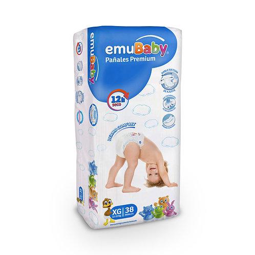 EmuBaby Pañales Premium XG 38 un