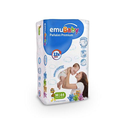EmuBaby Pañales Premium M 44 un
