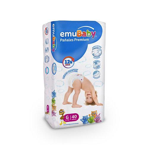 EmuBaby Pañales Premium G 40 un