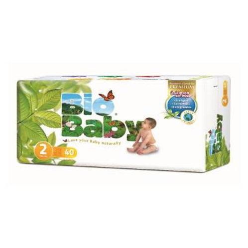 Pañales Bio Baby 2 CH, (5-8  kg), 40 Un