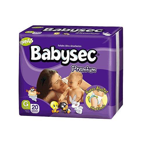 Pañales Babysec Premium Talla G (8,5-12 kg), 20 Un