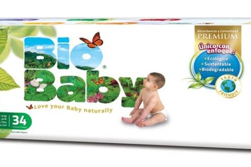 Pañales Bio Baby 4 G (9-13 kg), 38 Un