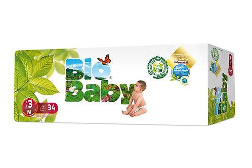 Pañales Bio Baby 3 M (7-10  kg), 38 Un
