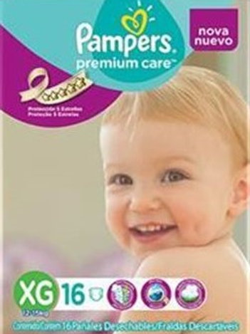 4 Paquetes Pampers Premium Care XG 16 Un