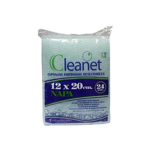 Esponjas Jabonosas Cleanet 24 Un