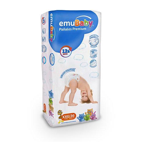 EmuBaby Pañales Premium XXG 36 un