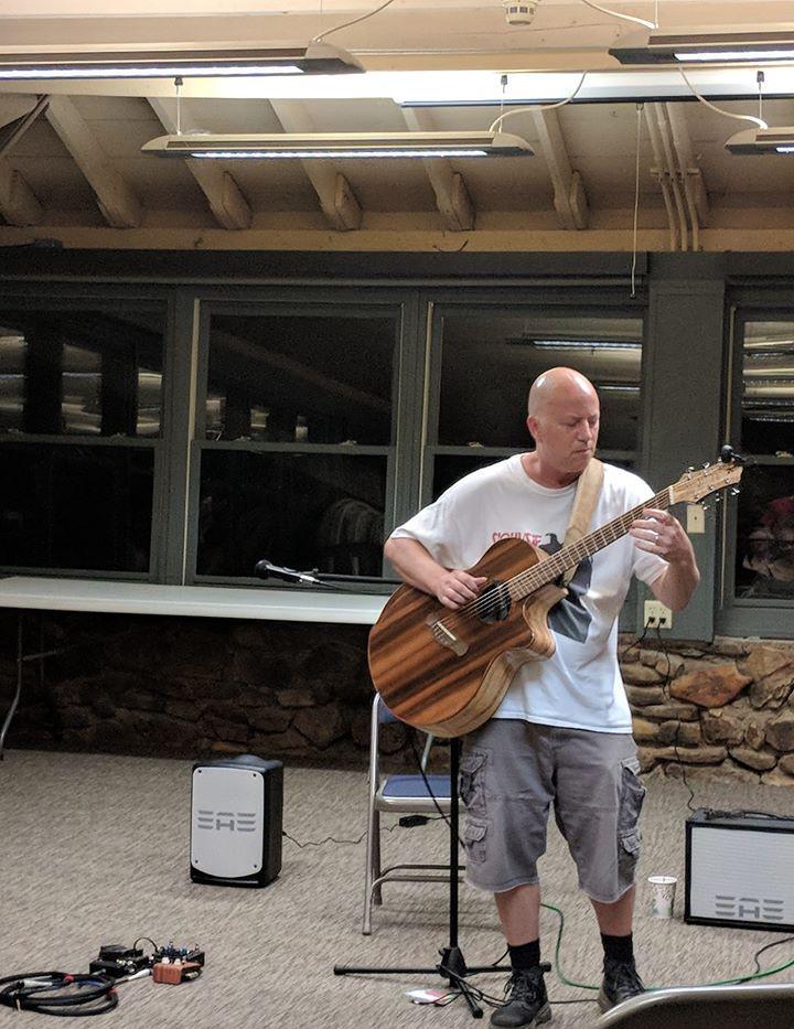 Spencer Elliott playing Festival Open Mic