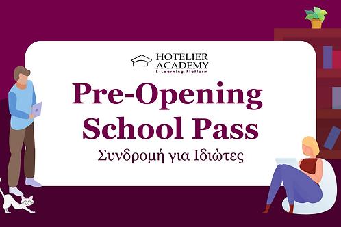 Pre-Opening School Pass | 1 χρήστης