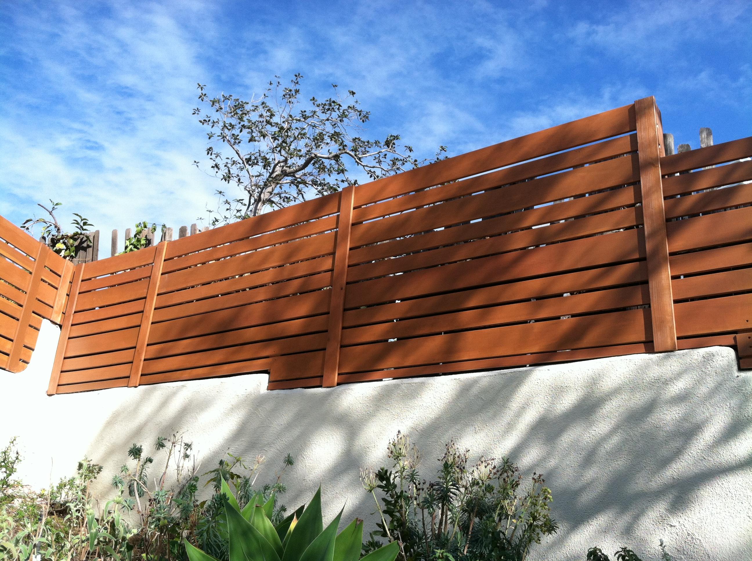 Modern Redwood Fence