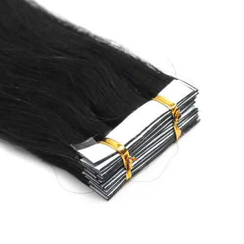 20pc Black Tape-In Extensions 50g